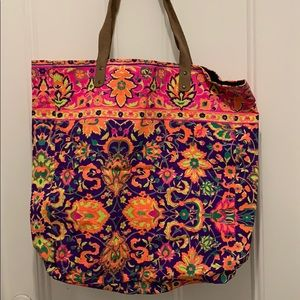 Handbags - Hand Painted Canvas Tote